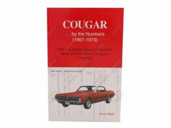 BOOK, COUGAR...BY THE NUMBERS 67-73, KEVIN MARTI, PRODUCTION
