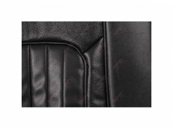 UPHOLSTERY SET, Front Bucket Seats, XR-7, black, repro,