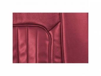 UPHOLSTERY SET, Front Bucket Seats, XR-7, dark red,