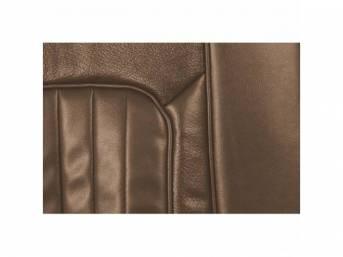 UPHOLSTERY SET, Front Bucket Seats, XR-7, medium saddle,