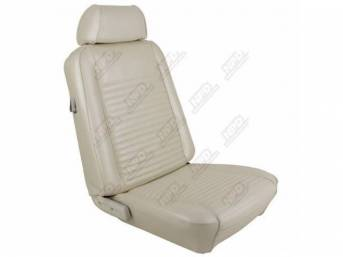 UPHOLSTERY SET, Front Bucket Seats, white, repro, front