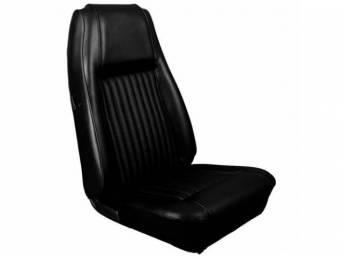 UPHOLSTERY SET, Front Bucket Seats, XR-7 Decor, black,