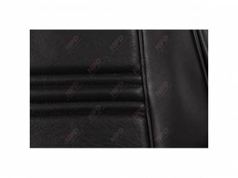 UPHOLSTERY SET, Front Bucket Seats, black, repro, pair,