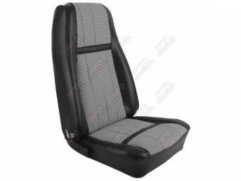 UPHOLSTERY SET, Front Bucket Seats, XR-7 Houndstooth, black,