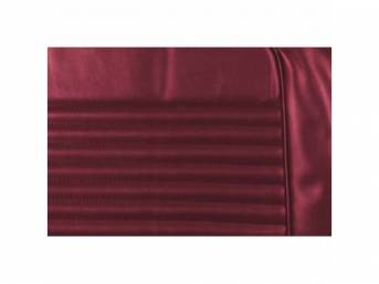 UPHOLSTERY SET, Rear Seat, dark red, repro, rear