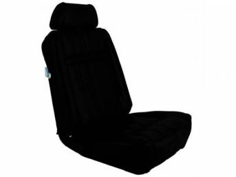 UPHOLSTERY SET, Rear Seat, XR-7, black, repro, rear
