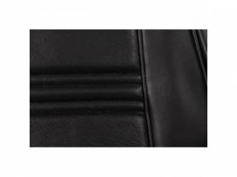 UPHOLSTERY SET, Rear Seat, black, repro, rear seat