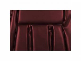 UPHOLSTERY SET, Rear Seat, XR-7, dark red, repro,