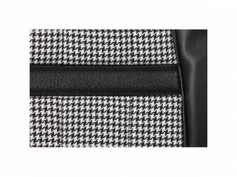 UPHOLSTERY SET, Bucket Seat, XR-7 Houndstooth, black, repro,