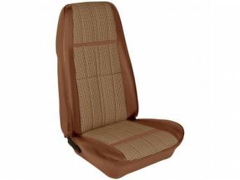 UPHOLSTERY SET, Bucket Seat, XR-7 Houndstooth, ginger, repro,