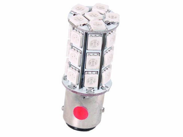 BULB, 1157, RED LED