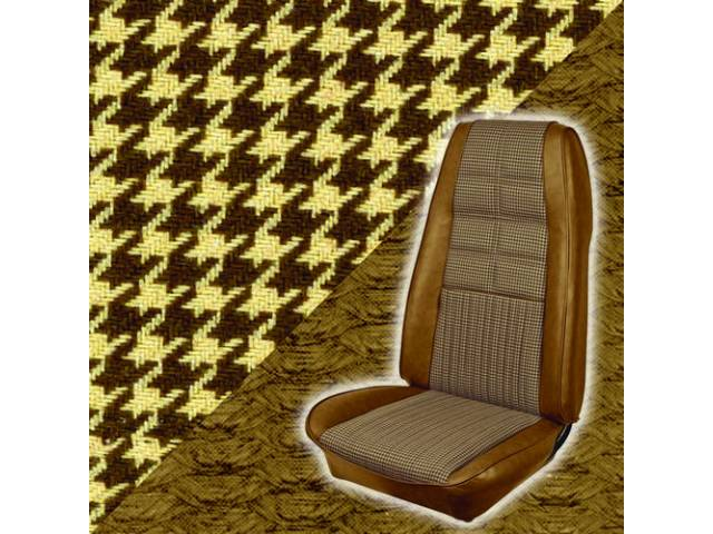 UPHOLSTERY SET, DELUXE, BUCKET, HOUNDSTOOTH CLOTH, GINGER, CORINTHIAN
