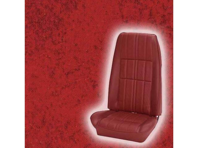UPHOLSTERY SET DELUXE BUCKET ALL VINYL VERMILION RED