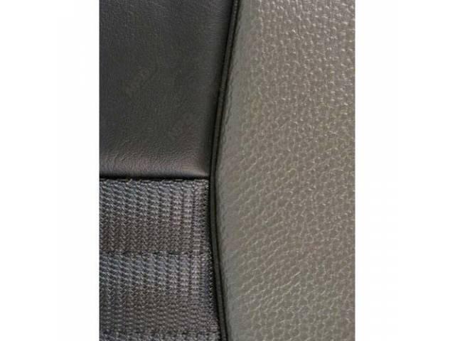 UPHOLSTERY SET MACH 1 SPORT SEAT CONVERSION BLACK