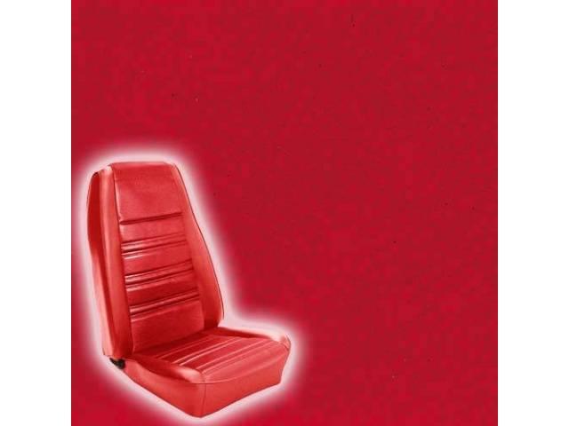 UPHOLSTERY SET STANDARD BUCKET VERMILION RED
