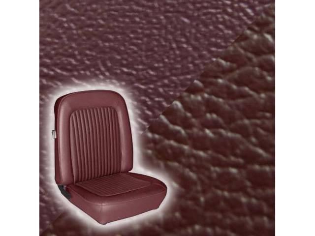 UPHOLSTERY SET STANDARD BUCKET MAROON LESS HEADREST COVER