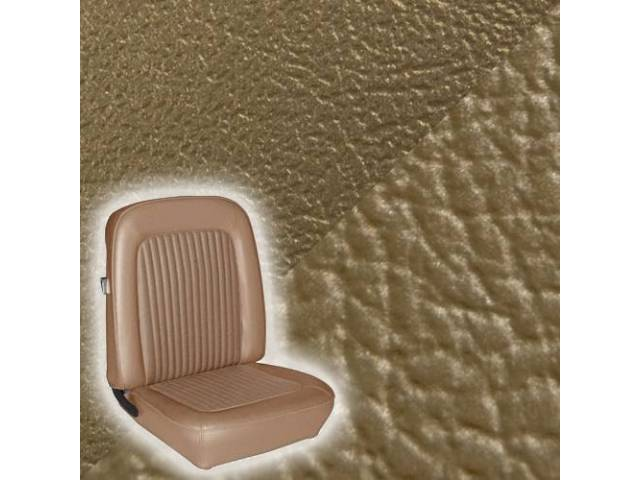 UPHOLSTERY SET STANDARD BUCKET NUGGET GOLD LESS HEADREST