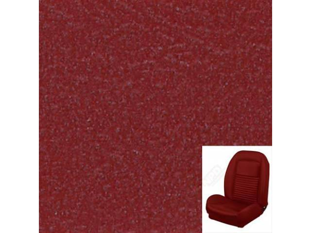 UPHOLSTERY SET, Sport Seat II, Standard style, red.