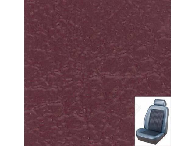 UPHOLSTERY SET, Sport Seat II, Standard style, maroon.