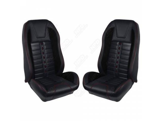 UPHOLSTERY SET Sport XR matte black vinyl with
