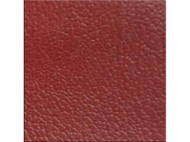 VINYL YARDAGE VERMILION RED CORINTHIAN GRAIN 54 INCH
