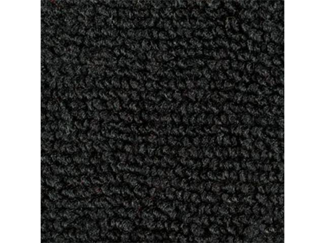 CARPET, Raylon Weave, black, This carpet is fitted