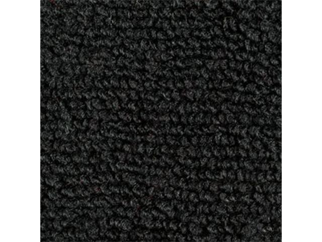 CARPET, Raylon Weave, black, mass backed, This carpet