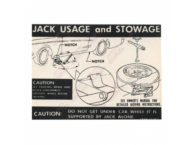DECAL Trunk Jack instructions C9WB-D