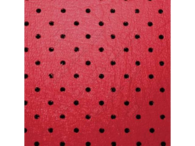 HEADLINER Perforated dark red leather grained