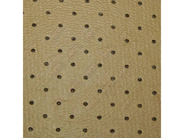 HEADLINER Perforated ginger leather grained