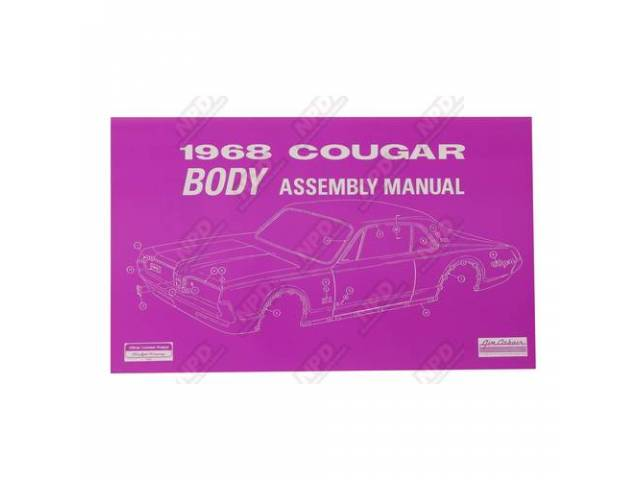BOOK ASSEMBLY MANUAL BODY 1968 Reprint of the