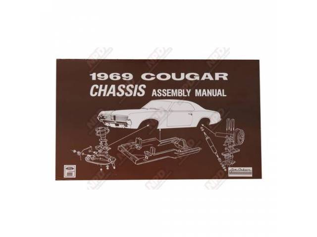 BOOK Assembly Manual Chassis 1969 Reprint of the