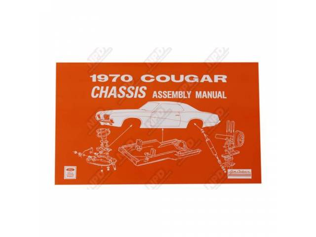 BOOK Assembly Manual Chassis 1970 Reprint of the