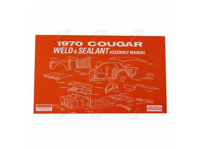 BOOK Assembly Manual Weld and Sealant 1970 Reprint