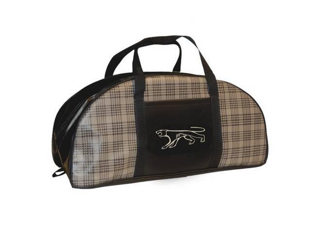 TOTE BAG Large Cougar logo plaid