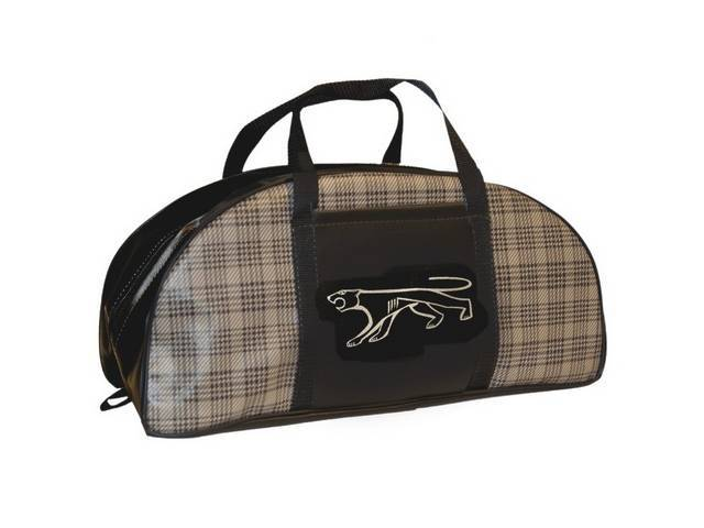 TOTE BAG Small Cougar logo plaid