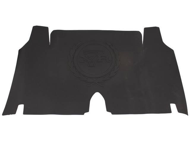 TRUNK MAT, Rubber, black, *XR-7* crest  logo,