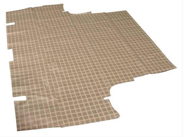TRUNK MAT Vinyl plaid Soft vinyl with fleece