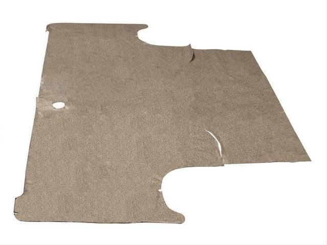 TRUNK MAT, Vinyl, speckled, Soft vinyl with fleece