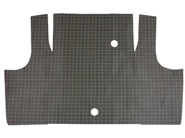 TRUNK MAT, Vinyl, plaid, Soft vinyl with fleece