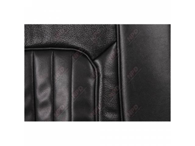 UPHOLSTERY SET Bucket Seat XR-7 black repro front