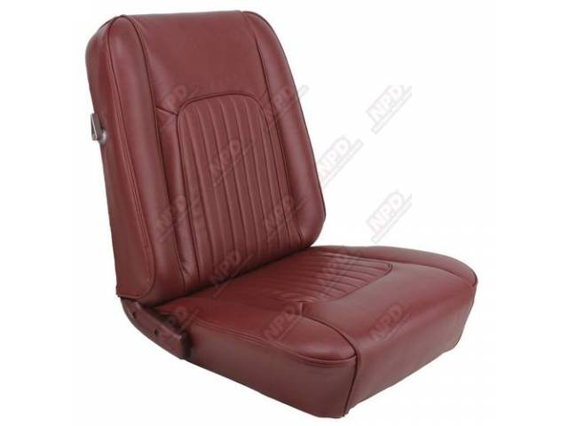 UPHOLSTERY SET Bucket Seat XR-7 dark red repro