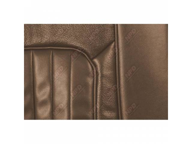 UPHOLSTERY SET Bucket Seat XR-7 medium saddle repro