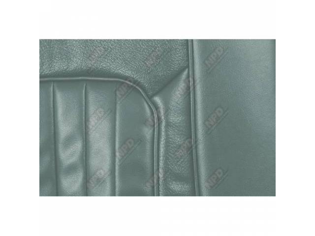 UPHOLSTERY SET Bucket Seat XR-7 light aqua repro