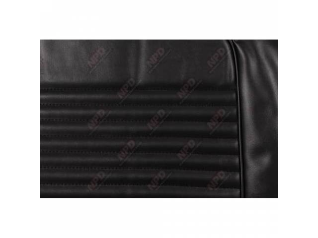 UPHOLSTERY SET Front Bucket Seats black repro front