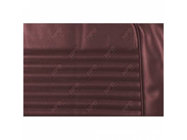 UPHOLSTERY SET Front Bucket Seats dark red repro