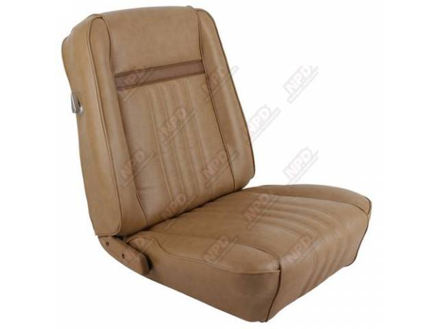 UPHOLSTERY SET Front Bucket Seats Decor medium saddle