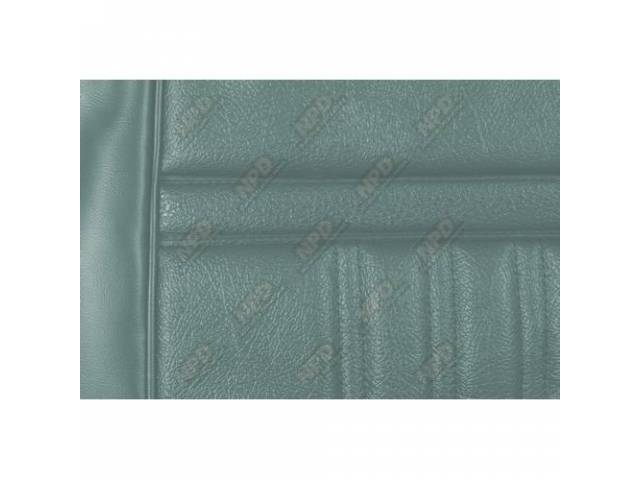 UPHOLSTERY SET Bucket Seat Decor light aqua repro