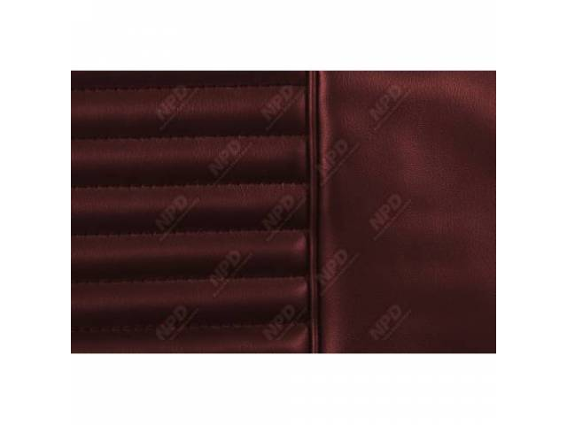 UPHOLSTERY SET Bucket Seat dark red repro front