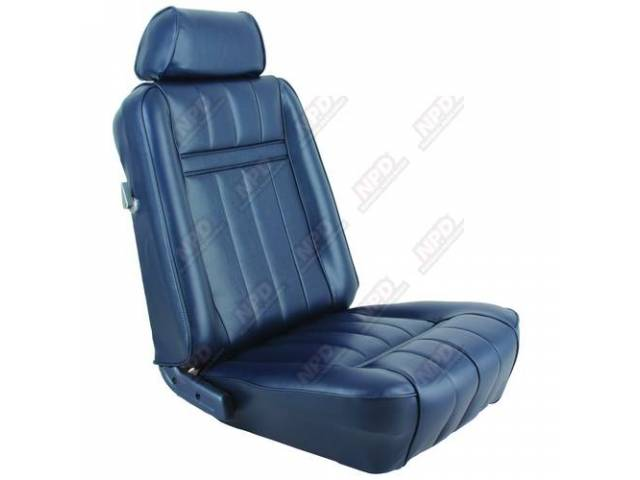 UPHOLSTERY SET Bucket Seat XR-7 blue repro front
